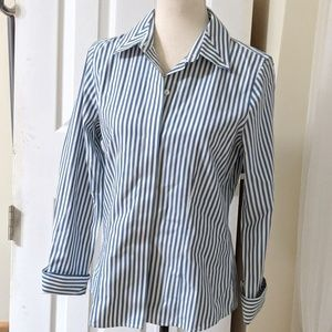 FOXCROFT | No iron button down fitted shirt